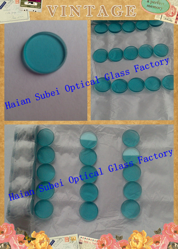 Color optical glass /Blue optical filter QB