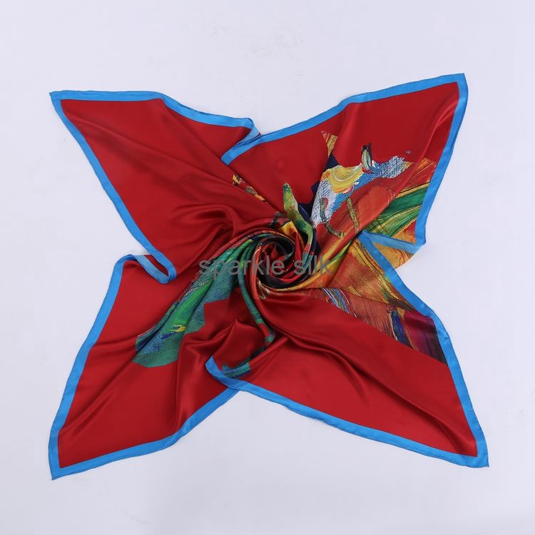 Promotional Multicolor Elegant Super Soft The Silk Scarf