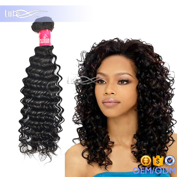 Wholesale 100% Human Unprocessed Natural Brazilian Curly Weave Hair Virgin Remy