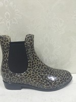 latest ankle ladies rain boots sexy women leopard rain boots