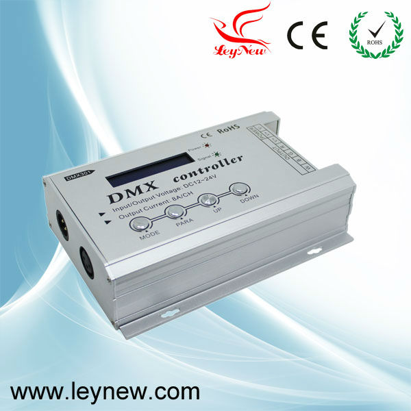 DC12-24V Low-voltage DMX controller with LCD display, LED RGB DMX Controller