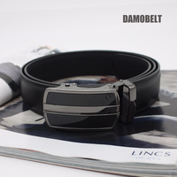 Mens Fashion Automatic Metal Buckle Ratchet Pure Leather Belts