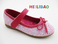 wholesale baby girls shiny bow flat casual shoes kids shoes