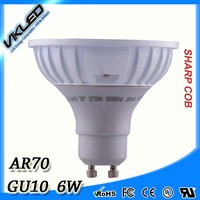 LED Lamps AR70 for house decrect, GU10/B15D 6W 12/24 degree Dimmable COB LED ar70 gu10 spot lights