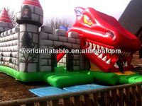 2013 HOT! Inflatable dinosaurs bouncer and slide