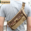 2291 Muliti-functional Khaki Canvas Crossbody Sling Backpack Bag for Men