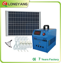 Off grid solar power generation system solar power system solar panel system for home lighting and charge mobile phone