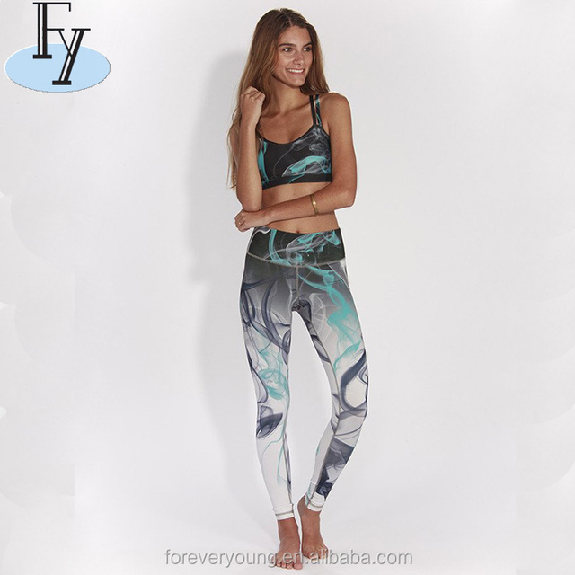 OEM Patterned Dry fit Compression Tights Sport Leggings for Women