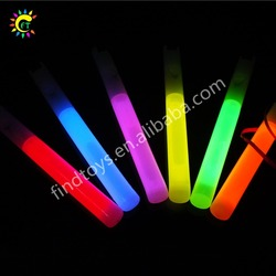 Glow in the dark colorful 6 inch glow whistle stick for festival