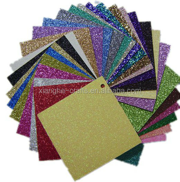 kids hand craft color glitter paper for festival gift decoration