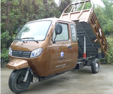with enclosed cabin dumper truck moped pedal china cargo tricycle