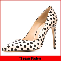 white and black dot leather shoes turkey,latest design lady shoes