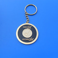custom gold metal enamel logo keychain for UAE souvenir