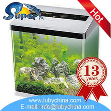 Floating glass hanging aquarium with lighting intergrated