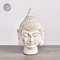 Popular item wholesale matte modern home decoration handicraft ceramic laughing buddha head statue