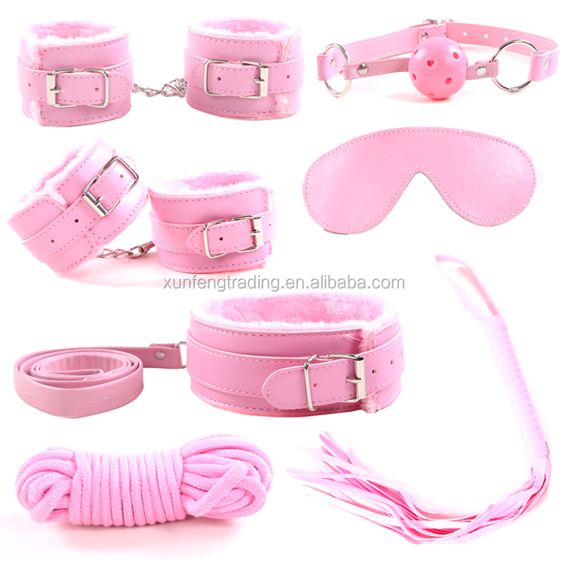 PU leather bondage adult sex toys restrain sets sexy product set adult games 7 pcs sex toys