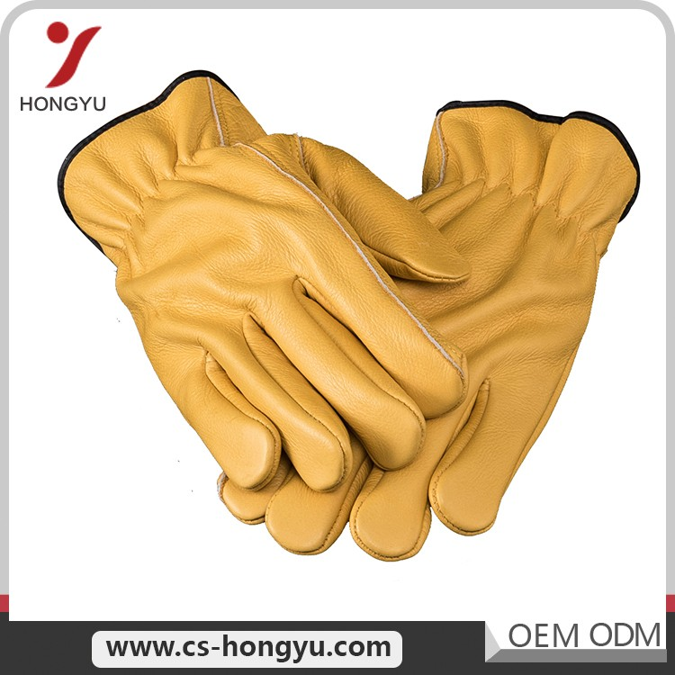 Europe style industry welding men safety cow split leather products hand working gloves
