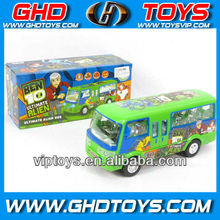 B/O Bump & go bus with 7 lights & music BEN10 bus toys