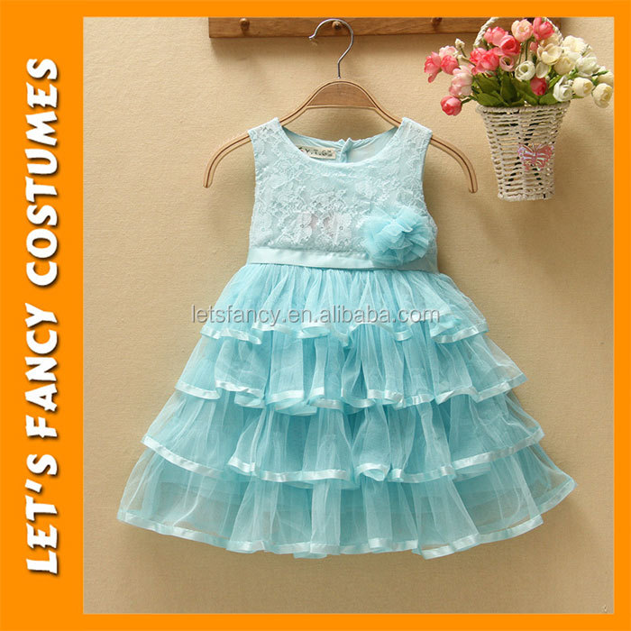 PGCC1322 Model Formal Wedding Birthday Party Sleeveless Satin Children Long Frocks Designs Patchwork Girl Dress