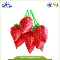 recycled polyester promotional bag polyester drawstring bag strawberry style foldable polyester bag