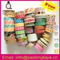 Handicraft washi tape manicure for handmade work