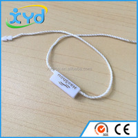 China factory price cheap hang tag plastic cord lock plastic seal tag string hanging tablet for clothing