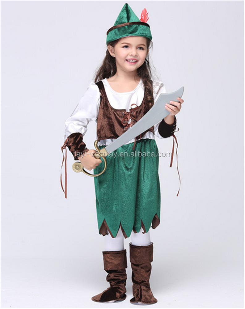 Child Girls Pirate Costumes Party Cosplay Costume Halloween Girls' Fancy Dress