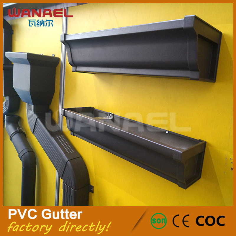 Wanael Hot Sales Rain Carrying System PVC Rain Square Gutter Pipe