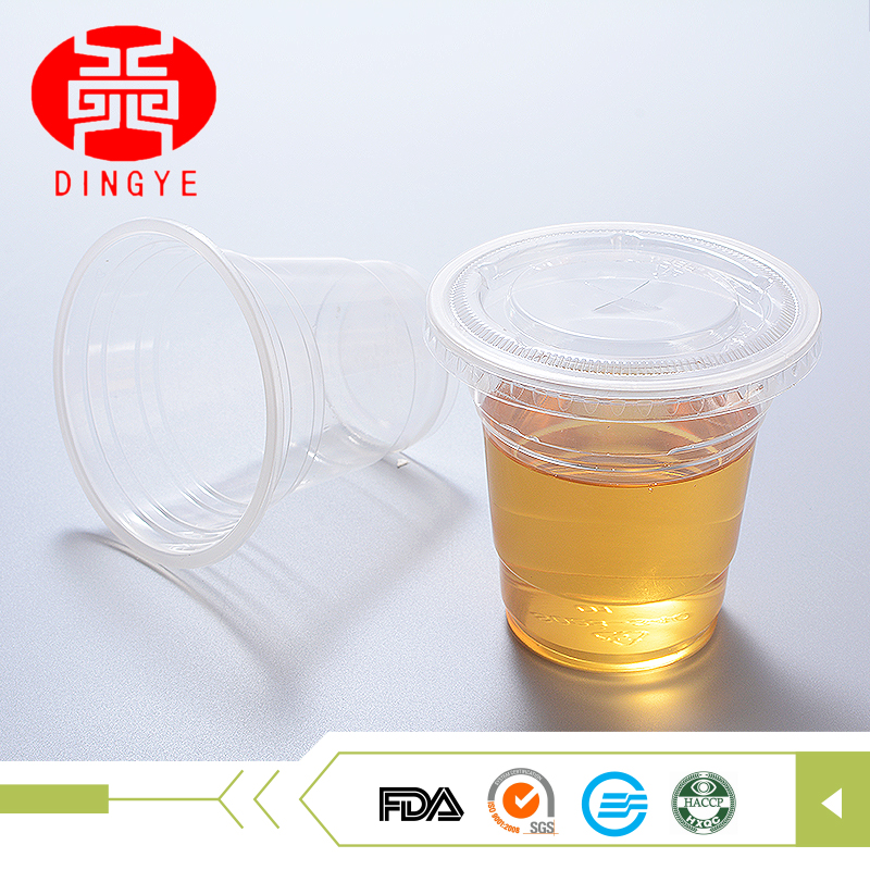 Widely used 340ml 380ml 520ml PP disposable plastic cups and dome lid