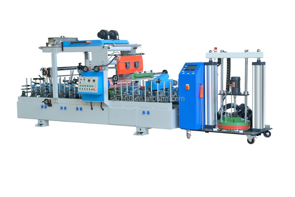 SKR-700 PUR wrapping machine hot&cold melt glue film coating machine
