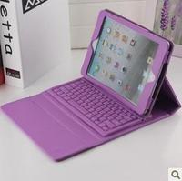 Purple leather case with wireless bluetooth keyboard for ipad 2 9.7 inch tablet pc keyboard leather case