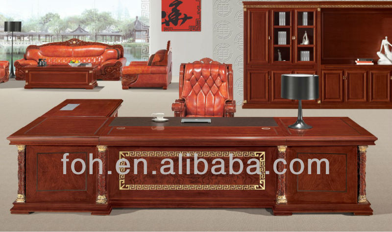 Executive Luxury Office Furniture With Gold Leaf Gilding (FOHT-01)