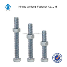 Manufacturer china factory steel DIN933 Yafa astm A325 hex bolt