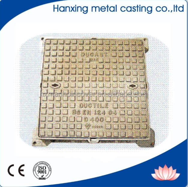 2015 best selling ductile iron heavy duty solid top cover & frame