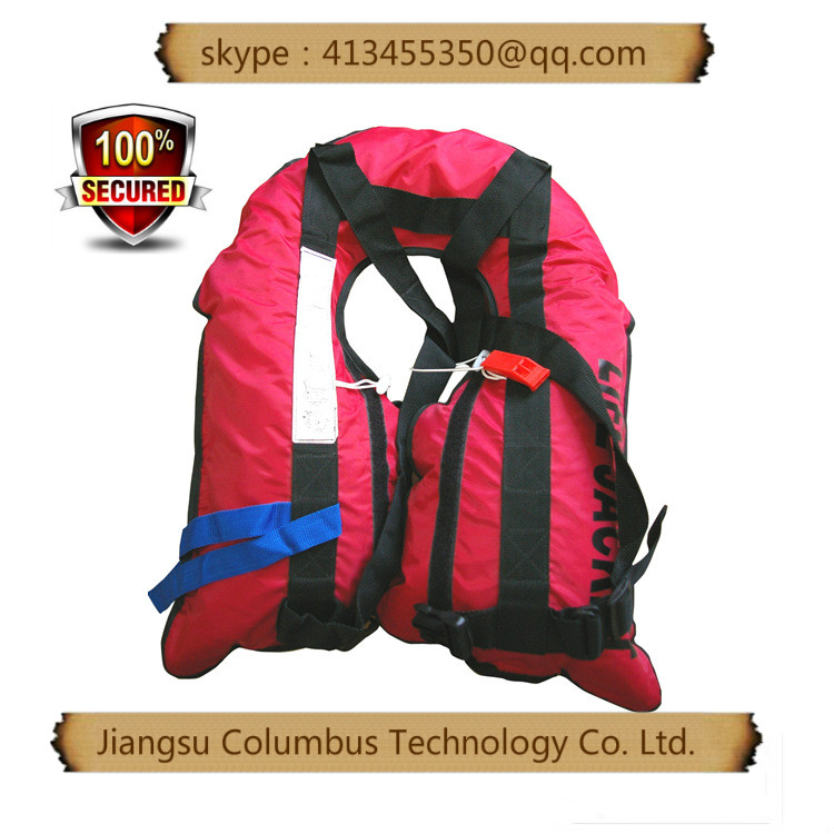 zip lock bag packed Eyson 3100RED M 24 Manual Inflatable Universal Life Jacket PFD Red