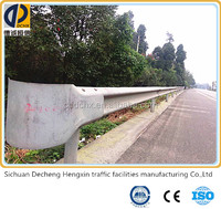 China hot rolled high intensity plastic spraying guard rail with various color,hdg guardrail for highway