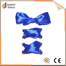 From factory price blue satin ribbon for shoes decorating