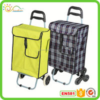 Luggage cart trolley 3 wheels aluminum luggage trolley parts for airport