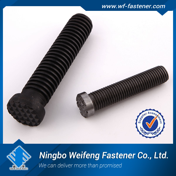 china haiyan factory manufactures suppliers exporters fastener anti-theft bolt and nut hex bolt black / zinc plated