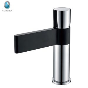 Zinc handle brass body black and chrome water taps,bathroom products basin faucets