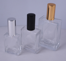 Top grade glass perfume glass bottle with sprayer simple cosmetic customizable