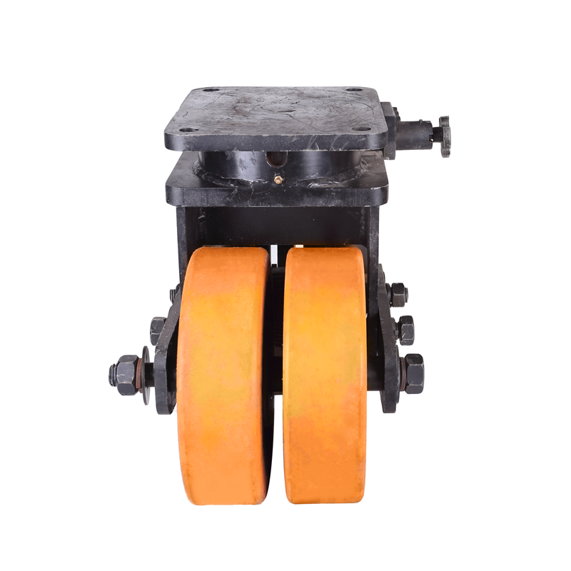 Extra heavy duty shipping container PU dual double wheel casters