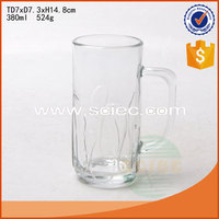 big size glass beer mug hot sale tall beer drinking glass
