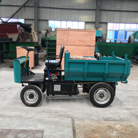 four wheels electric cargo tricycle for gold mining