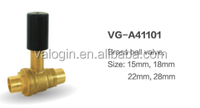 High quality forged 15mm stem brass ball valve from chinese manufacture/ factory direct(VG-A41101)