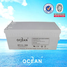 2014 new Ocean professional 12V 200AH lead acid battery solar power storage battery 220v for Solar inverter UPS high quality