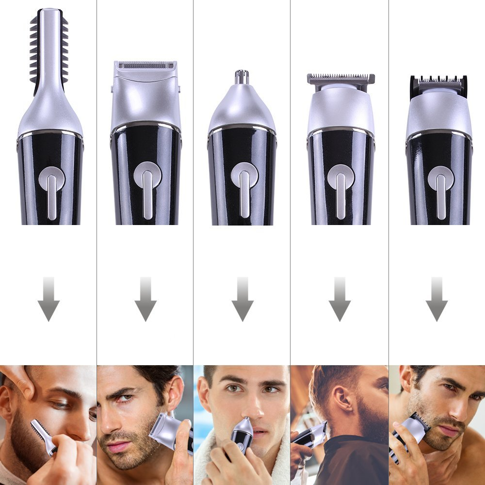 Professional facial hair removal device nose shaving kit machine hair clipper set beard trimmer men electric hair trimmer set