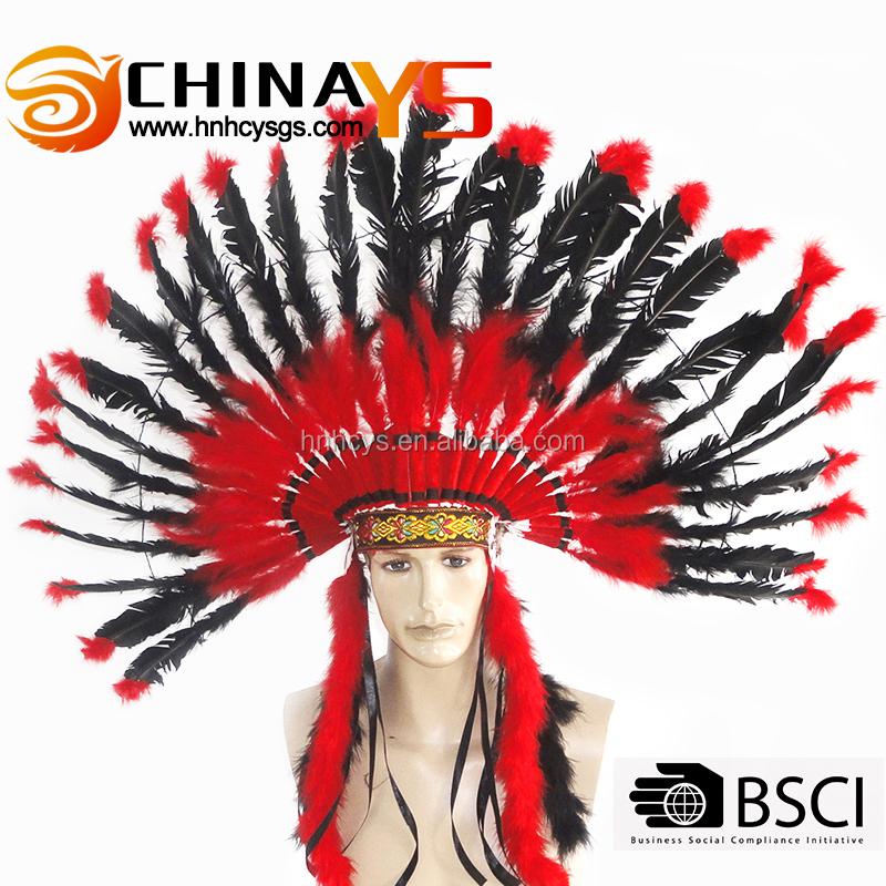 Large symbolize nobility Indian feather designer headbands YS 5489 in stock on promotion