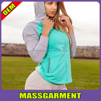 custom gym shark women two tone terry cloth hoodie