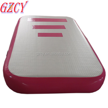 Hot Outdoor Custom Size n Logo Air Flow Mat, Inflatable Pink Air Track For Sale